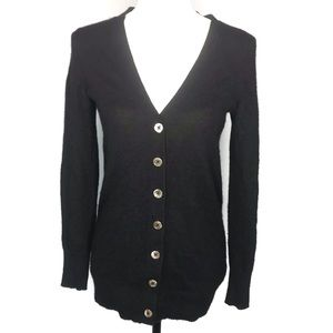 C by Bloomingdale's black cashmere cardigan